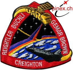 Photo de STS 48 Space Shuttle Discovery Mission Patch Abzeichen