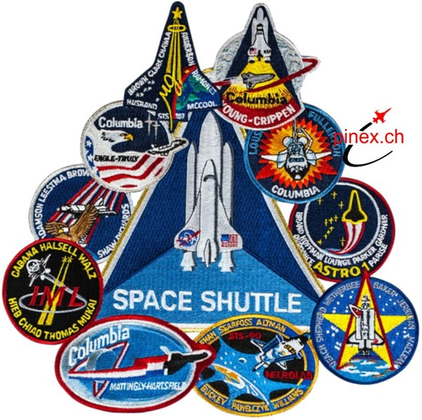Bild von Space Shuttle Columbia Collage Large Patch Abzeichen