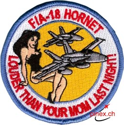 "Bild von VMFA-112 Cowboys FA-18 Hornet ""louder than your mom"" Patch Abzeichen"