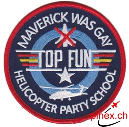 Bild von Top Gun Fun Patch Helicopter School Abzeichen Patch