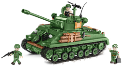 Bild von COBI 2533 Sherman M4 A3E8 Easy Eight Panzer US Army WWII Baustein Set