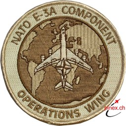 Bild von Nato Awacs E-3A Component Operations Wing Patch Sand Tarn