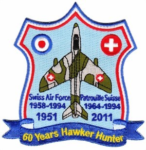 Photo de Hawker Hunter Jubi Aufnäher 1951-2011