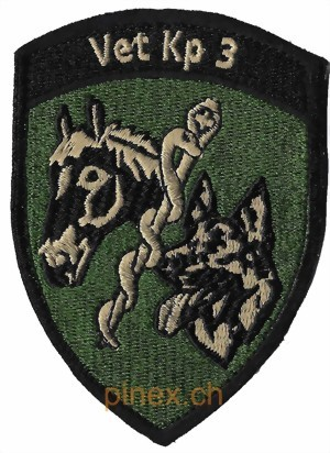 Photo de Vet KP 3 Veterinär Kompanie 3 Badge mit Klett Armee 21