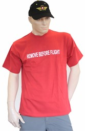 Bild von Remove before flight T-Shirt