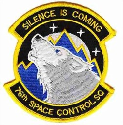 Bild von 76th Space Control Squadron Silence is Coming Abzeichen
