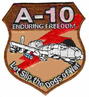 Photo de A-10 Thunderbot Enduring Freedom Badge