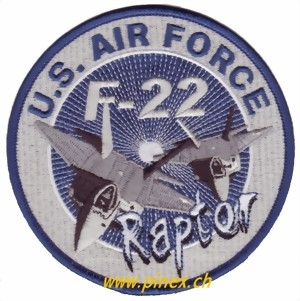 Photo de F22 Raptor US Air Force Aufnäher