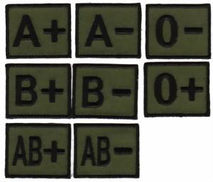 blutgruppenabzeichen ohne klett abzeichen machen lassen badges sticken lassen. Black Bedroom Furniture Sets. Home Design Ideas