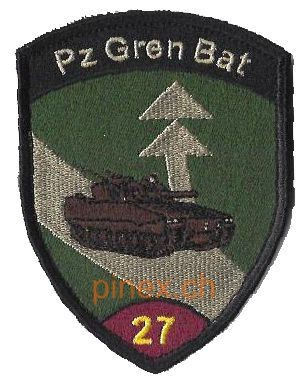 Photo de Badge Panzer Grenadier Bat 27 violett mit Klett