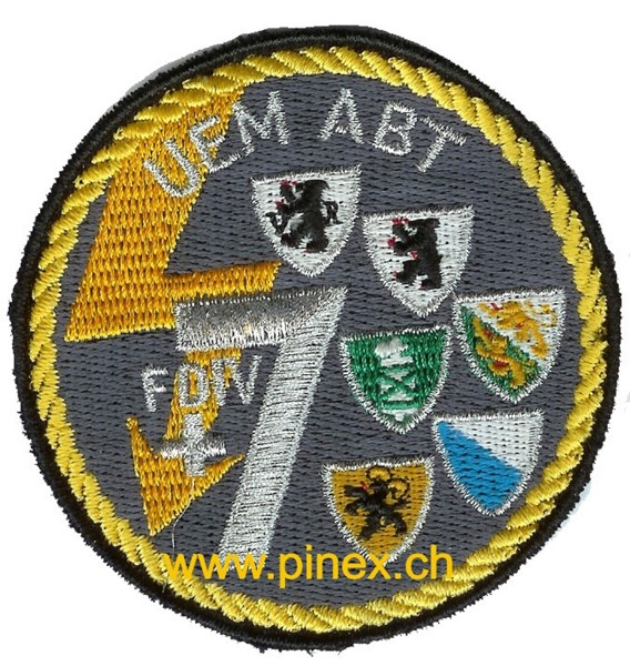 Photo de Badge UEM Abt FDIV 7, Rand gelb