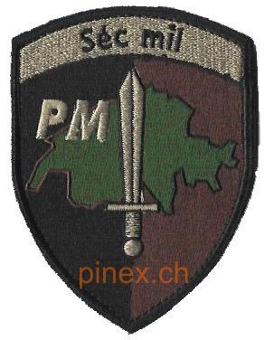 Photo de Séc mil PM Police militaire Badge mit Klett