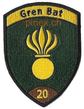 Photo de Grenadier Bat 20 braun Badge ohne Klett