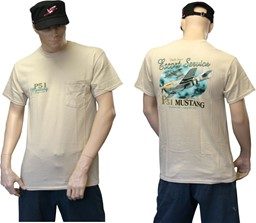 Photo de Mustang P51 T-Shirt Uncle Sam`s Escort Service