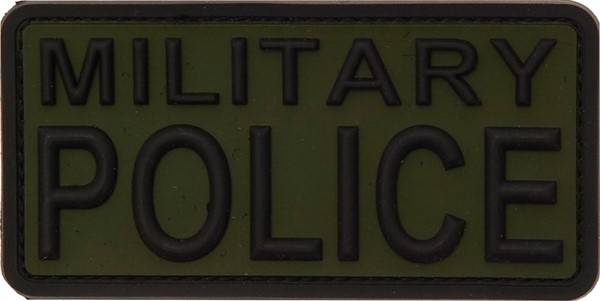Photo de Military Police 3D Rubber PVC Patch Grün