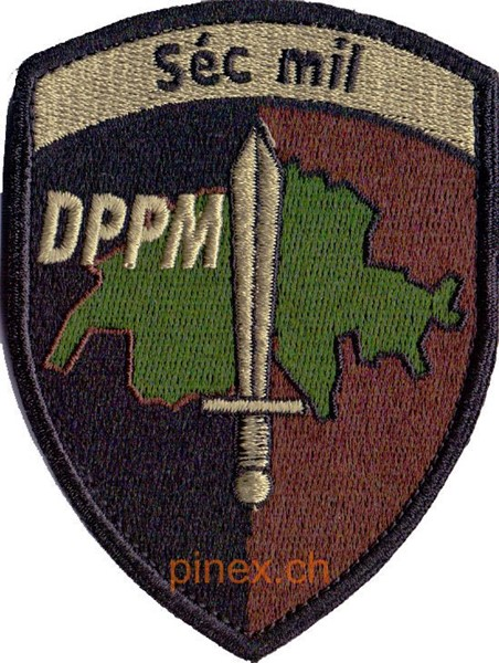 Photo de Séc mil DPPM Badge mit Klett