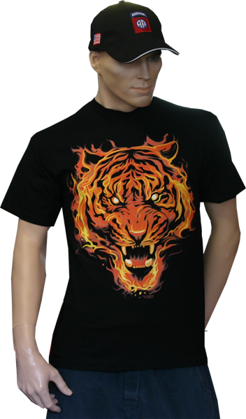 Photo de Flaming Tiger Shirt