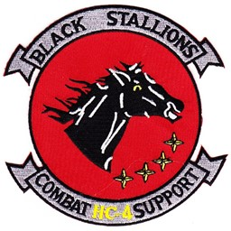 Bild von HC-4 Combat Support Helicopter Patch Black Stallions