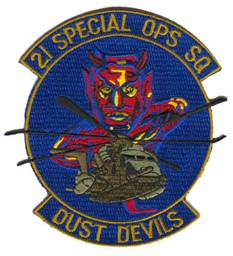 Bild von 21th Special OPS Sq Dust Devils Patch blau