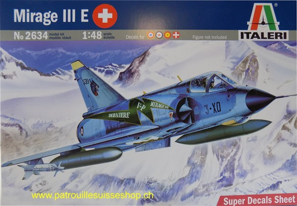 Photo de Italeri Mirage III Plastikbausatz mit Schweizer Decals
