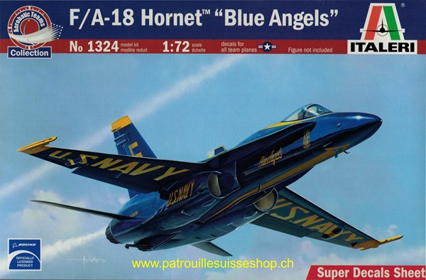 Photo de F/A-18 Hornet Blue Angels maquette avion Italeri