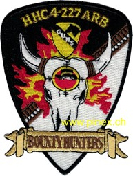 "Bild von 4th Squadron 227th Aviation Regiment Attack Recon Battalion Patch ""Bountyhunters"""