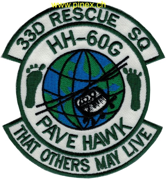 "Photo de 33d Rescue Squadron HH-60G Pave Hawk Abzeichen ""that others may live"""